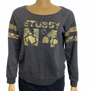 Vintage Stussy No 4 Pullover Snake print spell out